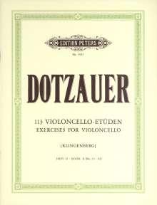 Justus Johann Friedrich Dotzauer: 113 Violoncello-Etüden - Heft 2: Nr. 35 - 62, Noten
