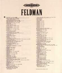 Morton Feldman: Atlantis für Kammerorchester (1059), Noten