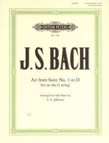 """Johann Sebastian Bach: Air D-Dur """"Air on the G String"""", Noten"""