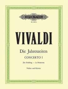 """Antonio Vivaldi: Die Jahreszeiten: Konzert für Violine, Streicher und Basso continuo E-dur op. 8 Nr. 1 RV 269 """"Der Frühling"""", Noten"""