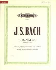 Johann Sebastian Bach: 3 Sonaten für Viola da gamba (Violoncello) und Cembalo BWV 1027-1029, Noten