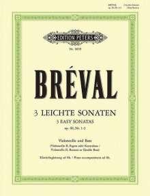 Jean-Baptiste Breval: Drei leichte Sonaten für Violoncello und Klavier op.40, 1-3, Noten