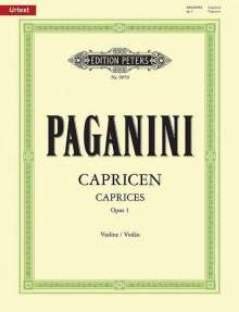 Niccolo Paganini: 24 Capricen für Violine solo op. 1, Noten