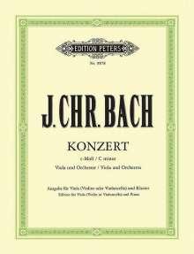 Johann Christian Bach (1735-1782): Konzert für Viola und Orchester c-Moll, Noten