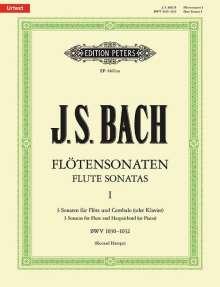 Johann Sebastian Bach: Sonaten für Flöte und Cembalo (Klavier) BWV 1030 - 1032 / URTEXT, Noten