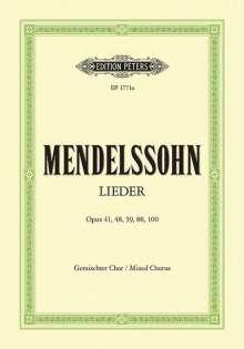 Felix Mendelssohn Bartholdy (1809-1847): Lieder, Noten