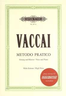Nicola Vaccai: Metodo pratico di Canto Italiano, Noten