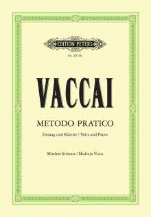 Metodo pratico di Canto Italiano, Noten