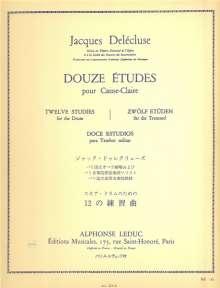 J. Delecluse: 12 Etudes, Noten