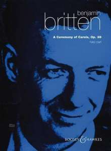 Benjamin Britten: A Ceremony of Carols, Einzelstimme Harfe, Noten