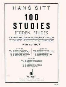 Hans Sitt (1850-1922): 100 Etüden op. 32, Noten