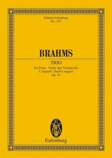 Johannes Brahms: Klaviertrio C-Dur op. 87. Klaviertrio, Noten