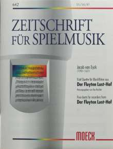 Jacob van Eyck: Fünf Duette aus: Der Fluytenlusthof, Noten