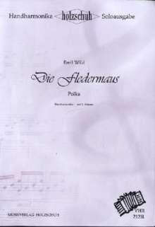 Emil Wild: Die Fledermaus, für Akkordeon & diatonische Handharmonika, Soloausgabe, Noten