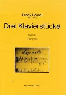 Fanny Hensel: Drei Klavierstücke (ca. 1829), Noten