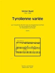 Victor Buot: Tyrolienne variée für Altsaxophon und Klavier, Noten