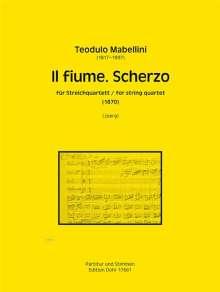 Teodulo Mabellini: Il fiume. Scherzo für Streichquartett a-Moll (1870), Noten