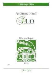 Ferdinand Hauff: Duo für Flöte und Fagott, Noten