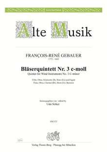 Francois-René Gebauer: Quintett Nr. 3 c-moll, Noten