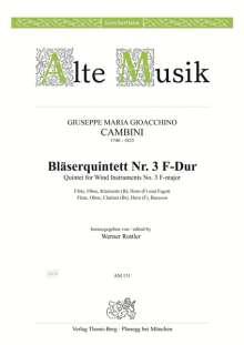 Giuseppe Maria Cambini: Quintett Nr. 3 F-Dur, Noten