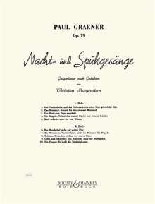Paul Graener: Nacht- und Spukgesänge op. 79, Noten
