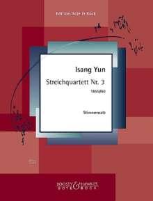 Isang Yun: Streichquartett Nr. 3 (1959-1960), Noten