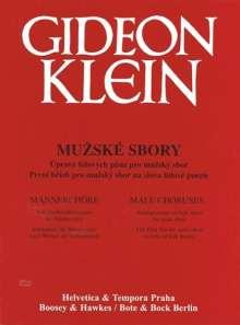 Gideon Klein: Werke für Männerchor, Noten