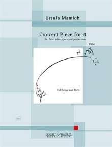 Ursula Mamlok: Concert Piece for 4 (1964), Noten