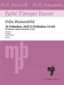 Felix Mikhailovich Blumenfeld: 24 Präludien op. 17 (1892), Noten