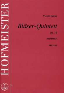 Victor Bruns: Bläserquintett op. 16, Noten