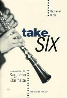 Giovanni Ricci: Take six. Instrumentals, Noten