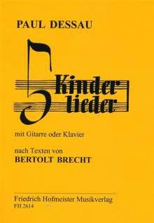 Paul Dessau: Kinderlieder, Noten
