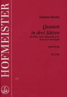 Johannes Reiche: Bläserquintett in 3 Sätzen, Noten