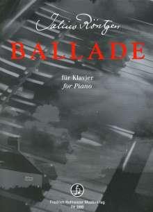 Julius Röntgen: Ballade, Noten