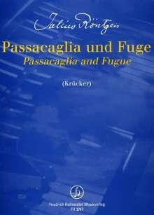 Julius Röntgen: Passacaglia und Fuge, Noten