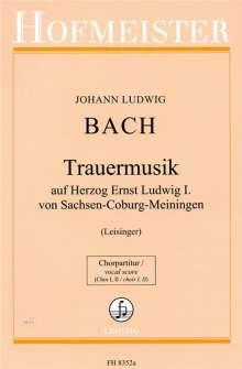 Johann Ludwig Bach (1677-1731): Trauermusik auf Herzog Ernst Ludwig I. von Sachsen-Coburg-Meiningen, Noten