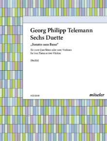 Georg Philipp Telemann: 6 Duette/Sonaten op. 2 TWV 40:101-106, Noten