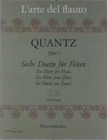 Johann Joachim Quantz: Sechs Duette für Flöten op. 5, Noten