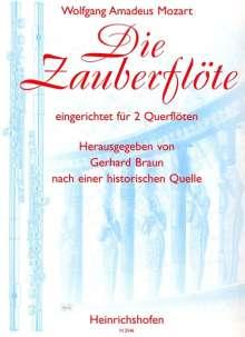 Wolfgang Amadeus Mozart: Die Zauberflöte eingerichtet für zwei Querflöten., Noten