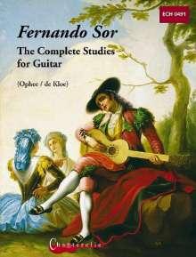 Fernando Sor: The Complete Studies, Noten
