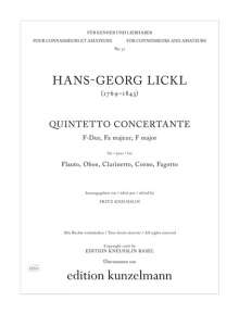 Johann Georg Lickl: Quintetto concertante F-Dur, Noten