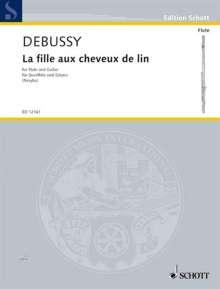 Claude Debussy: La fille aux cheveux de lin, Noten