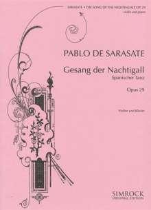 Pablo de Sarasate: Gesang der Nachtigall op. 29, Noten
