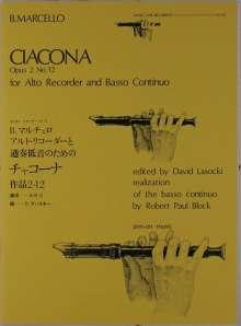 Benedetto Marcello (1686-1739): Ciacona op. 2/12, Noten