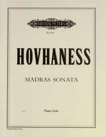Alan Hovhaness: Madras Sonata für Klavier op. 176, Noten