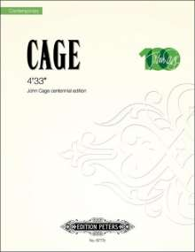 John Cage (1912-1992): 4'33'', Noten