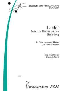 Elisabeth von Herzogenberg: Lieder, Noten