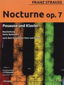 Franz Strauss: Nocturno op. 7, Noten