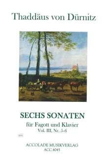 Freiherr Thaddäus von Dürnitz: 6 Sonaten für Fagott und Klavier, Noten
