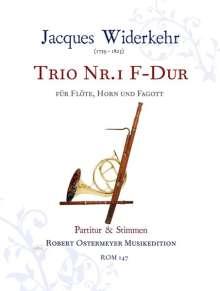 Jacques Widerkehr: Trio Nr.1 in F F-Dur, Noten